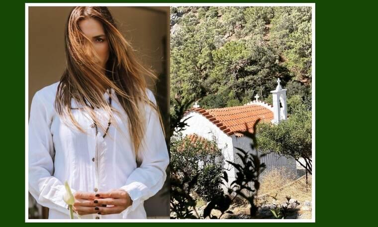 Συγκλονίζει η Πετρουλάκη: «Ανεβήκαμε στο μοναστήρι, μείναμε εκεί για λίγο, σε μια σιωπηλή προσευχή»