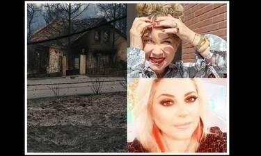 Μαίρη Σταυρακέλλη: Η δημόσια έκκληση για βοήθεια και η φωτό με το καμένο σπίτι της Νάνσυς Νικολαΐδου