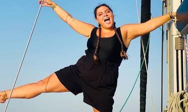 Δανάη Μπάρκα: Ποζάρει με τη βαφτιστήρα της και λάμπει από χαρά!