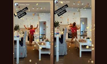 Μπάρκα: Επικό βίντεο! Ο χορός με το ολόσωμο φούξια μαγιό της στην κουζίνα φτιάχνοντας μαραρονόπιτα