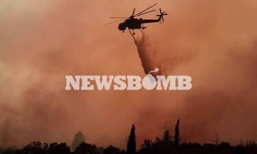 LIVE BLOG - Φωτιά στα Βίλια: Οι φλόγες μπήκαν στο χωριό- Καίγονται τα πρώτα σπίτια- Δραματικές ώρες