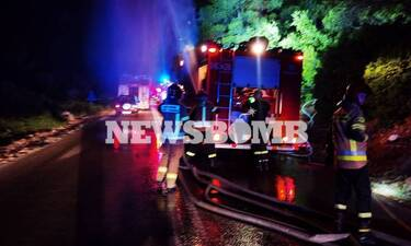 Ρεπορτάζ Newsbomb.gr: Συγκλονιστική κινητοποίηση για να σωθούν τα Βίλια – Ολονύχτια μάχη με τη φωτιά