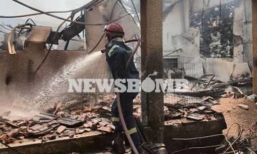Σκληρή μάχη με τις φλόγες στα Βίλια: Καταστροφές σε σπίτια, υποψίες για εμπρησμούς