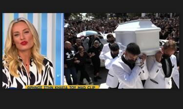 Ελεονώρα Μελέτη: Οι εικόνες από την κηδεία του Mad Clip που την συγκλόνισαν και το μήνυμά της