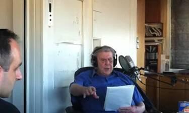 Ο Μίκης Θεοδωράκης στην τελευταία του ηχογράφηση
