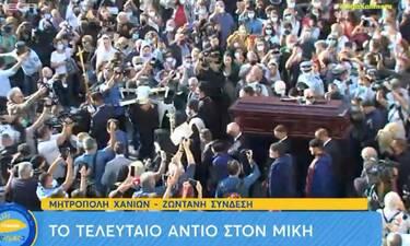 Κηδεία Μίκη Θεοδωράκη: Στη Μητρόπολη Χανίων η σορός του Μίκη Θεοδωράκη