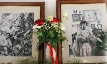 Κηδεία Μίκη Θεοδωράκη: Φωτογραφίες από το σπίτι του μουσικοσυνθέτη στον Γαλατά Χανίων