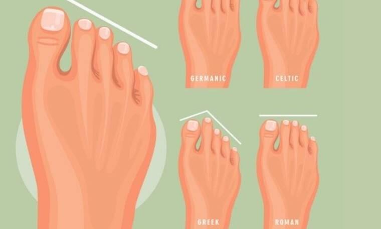 Τι αποκαλύπτει το σχήμα των δαχτύλων των ποδιών σου για το χαρακτήρα σου;