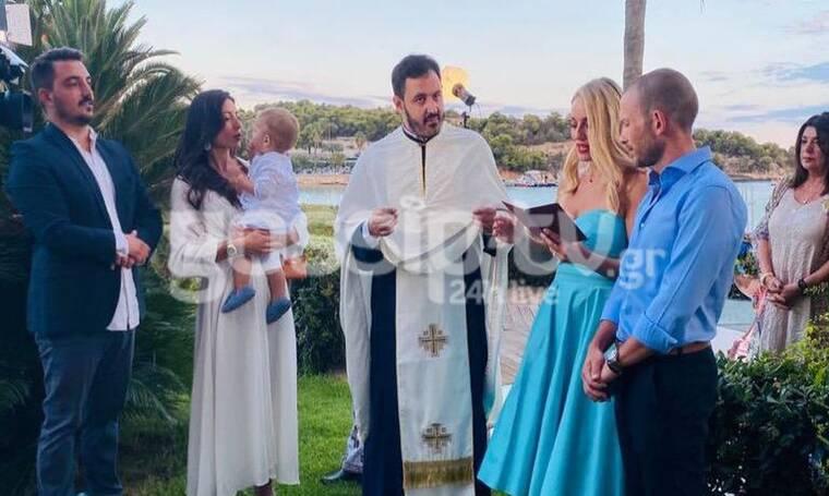 Αποκλειστικό: Η βάφτιση του γιου των Φλορίντας Πετρουτσέλι-Άρη Γούτου με νονούς Μελέτη-Μαροσούλη