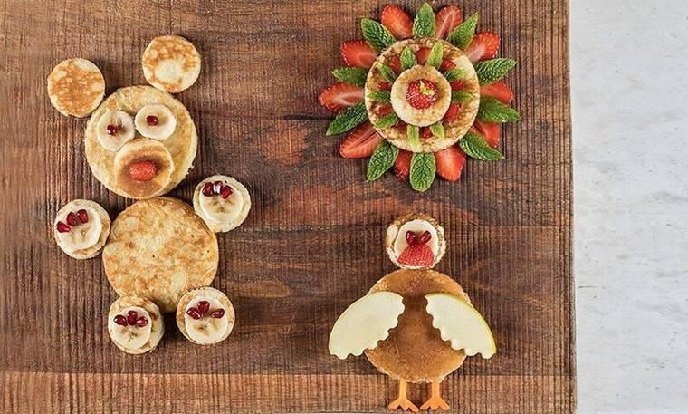 Παιδικά pancakes από τον Άκη Πετρετζίκη