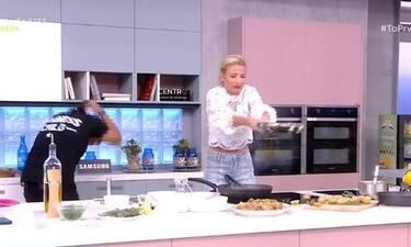 Φαίη Σκορδά: Το ατύχημα on air όταν πήγε να γυρίσει το φαγητό στο τηγάνι!
