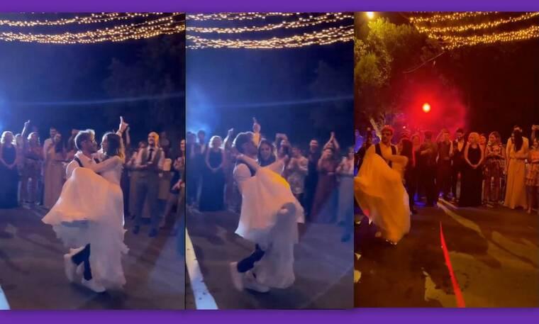 Άκης Πετρετζίκης - Κωνσταντίνα Παπαμιχαήλ: Ο ξέφρενος χορός τους στο γαμήλιο πάρτι!