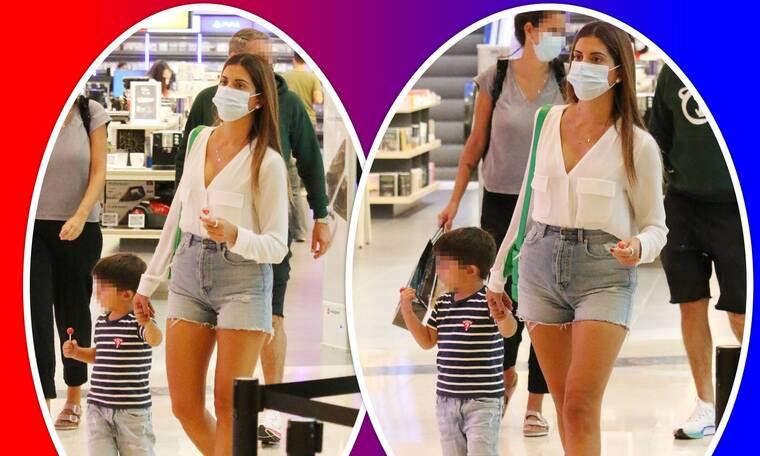 Σταματίνα Τσιμτσιλή: Χαλαρή βόλτα στο εμπορικό κέντρο με τον... άντρα της ζωής της! (photos)