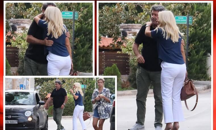 Έτσι είναι οι σχέσεις Μενεγάκη-Λάτσιου σήμερα! Οι αγκαλιές και τα φιλιά στη μέση του δρόμου!