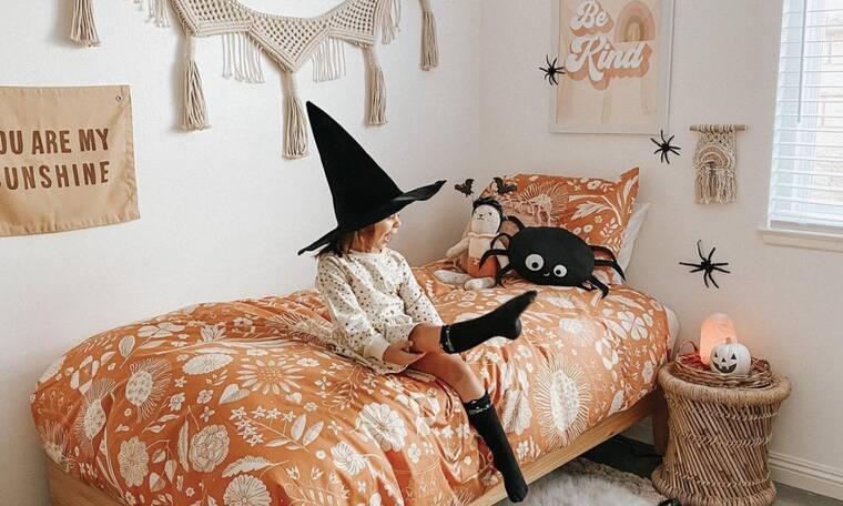 Απίθανη halloween διακόσμηση παιδικού δωματίου