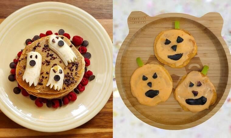 Ιδέες για Halloween pancakes