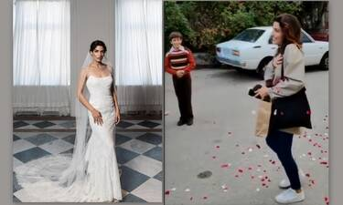 Τόνια Σωτηροπούλου: Την έραναν με ροδοπέταλα! Τα κεράσματα στο γύρισμα και οι ευχές (video)