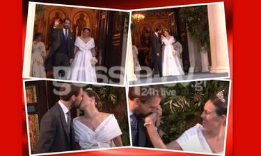 Αποκλειστικό video: Γάμος Φίλιππου - Νίνα Φλορ: Το τρυφερό φιλί τους μετά το μυστήριο! (pics+video)